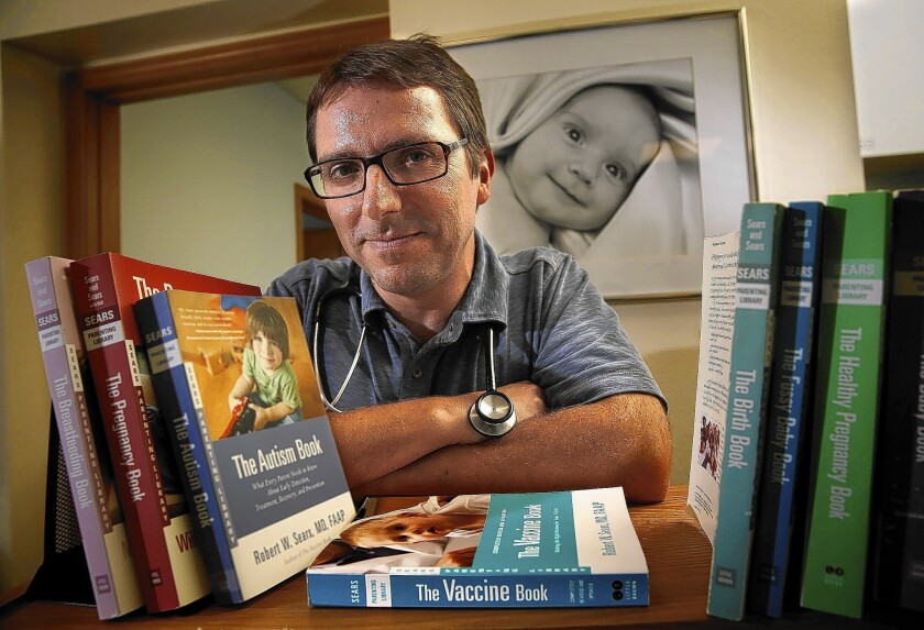 """Dr. Robert Sears, author of """"The Vaccine Book: Making the Right Decision for Your Child,"""" has become a celebrity among parents who see danger in immunization."""