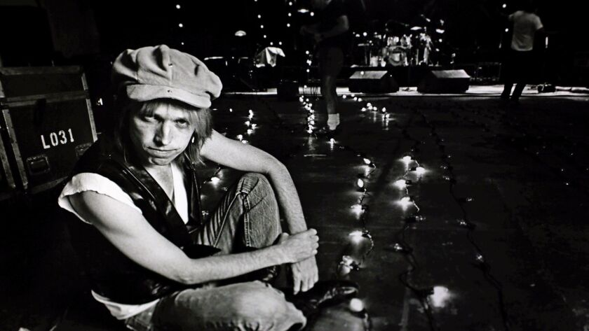Tom Petty on stage for a sound check in Burbank in May, 1987.