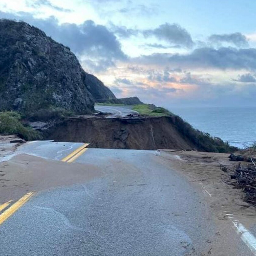 Highway 1 collapse a reminder of fragility of California coast - Los Angeles Times