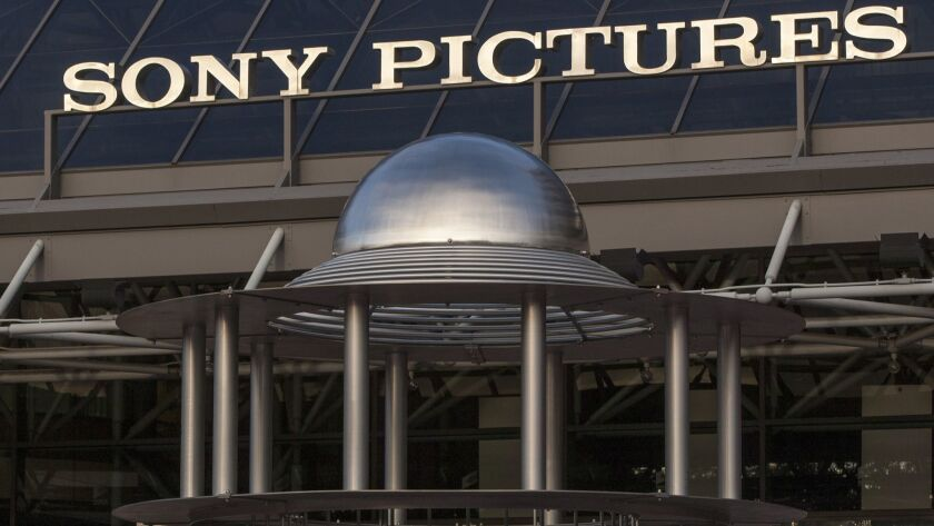 FILE - This Dec. 19, 2014 file photo shows an exterior view of the Sony Pictures Plaza building in C