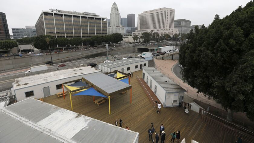 LOS ANGELES, CA SEPTEMBER 5, 2018: LA is about to launch a potential $75 million shelter system st
