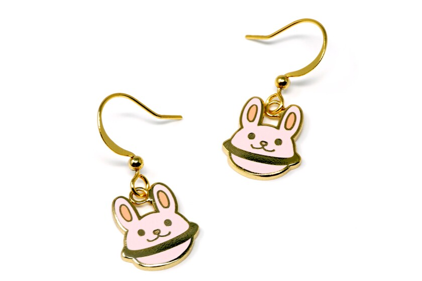 Kids enamel earrings