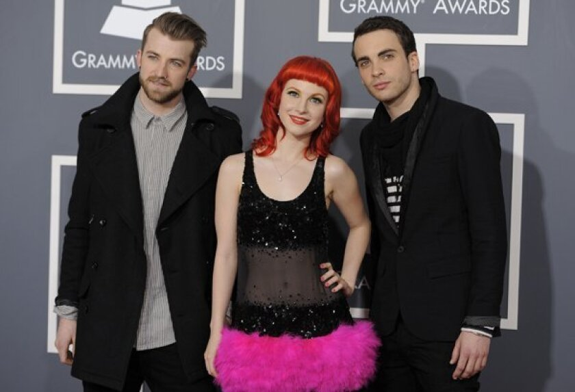 Jeremy Davis, Hayley Williams, Taylor York  of Paramore.