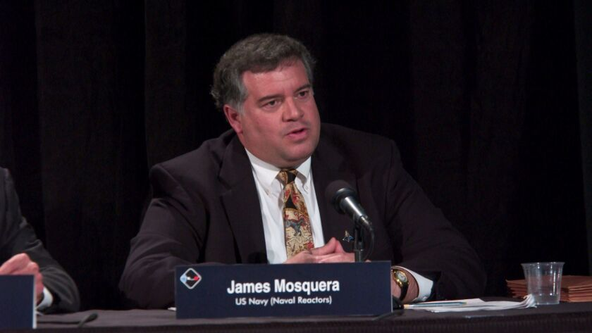 Jim Mosquera, the new Chief Technology Officer at San Diego-based General Atomics Electromagnetic Systems, testifies in 2004 before the President's Commission on Moon, Mars and Beyond.