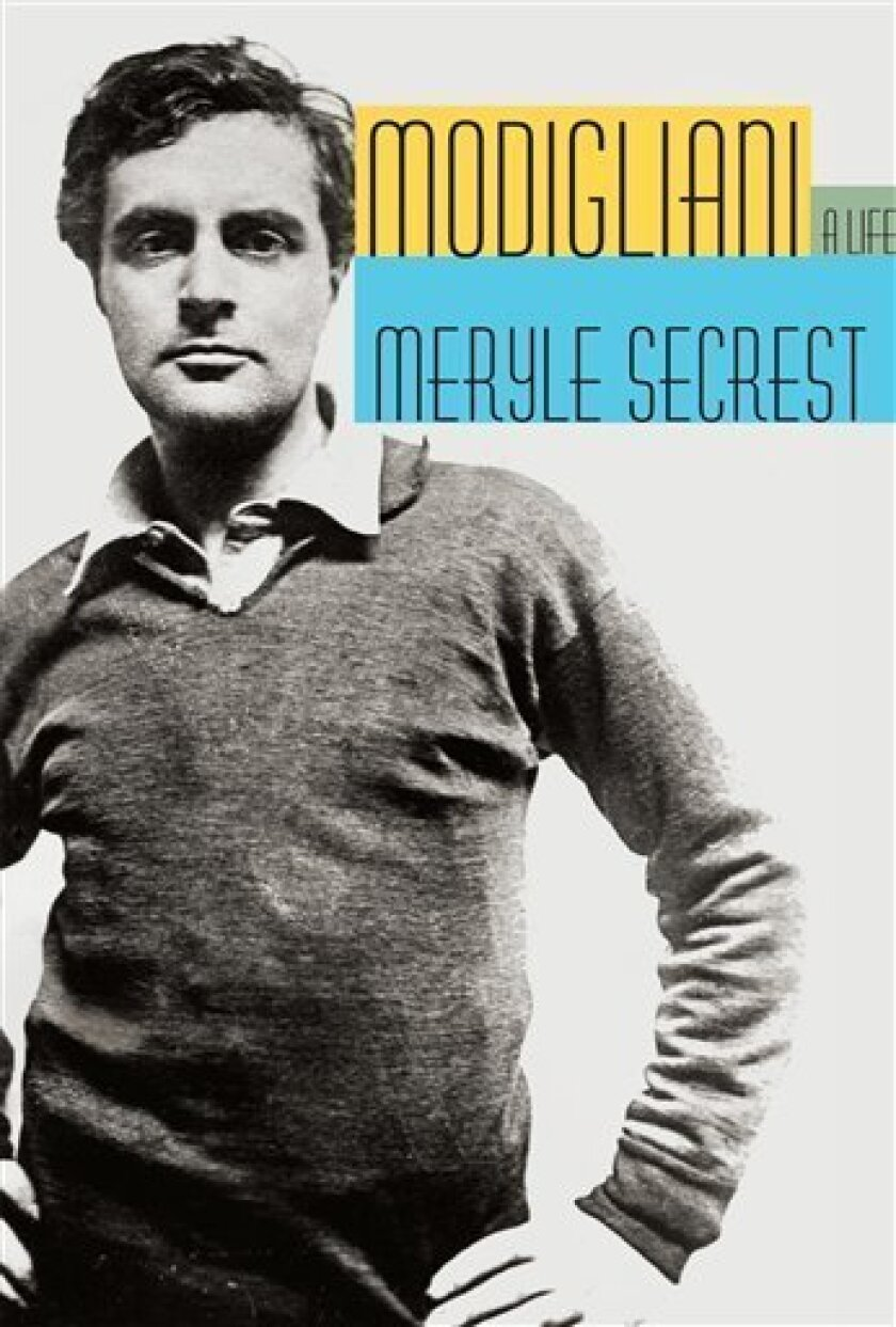 """In this book cover image released by Alfred A. Knopf, """"Modigliani: A Life"""" by Meryle Secrest is shown. (AP Photo/Alfred A. Knopf)"""