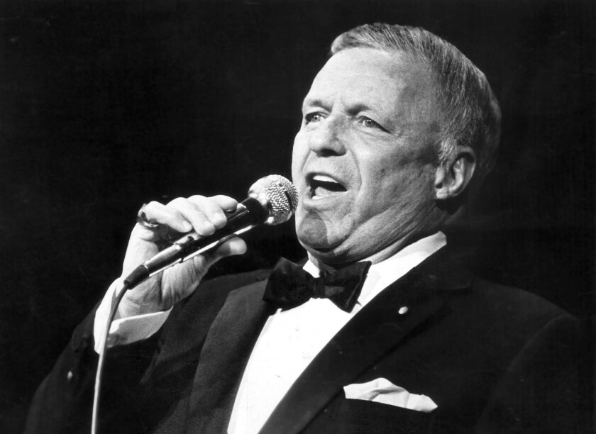 Frank Sinatra in 1984 at the Universal Amphitheatre.