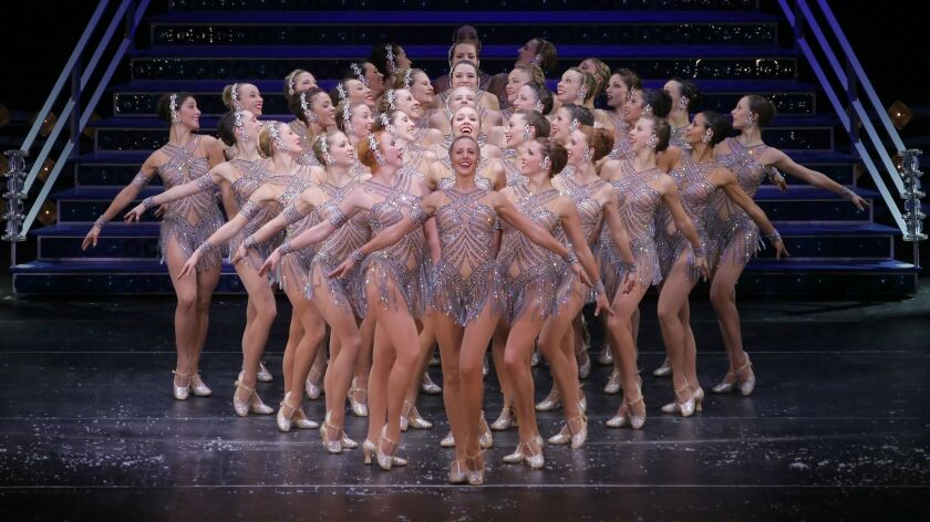 "In this image released by MSG Entertainment, the Rockettes perform a production number from the ""Rad"