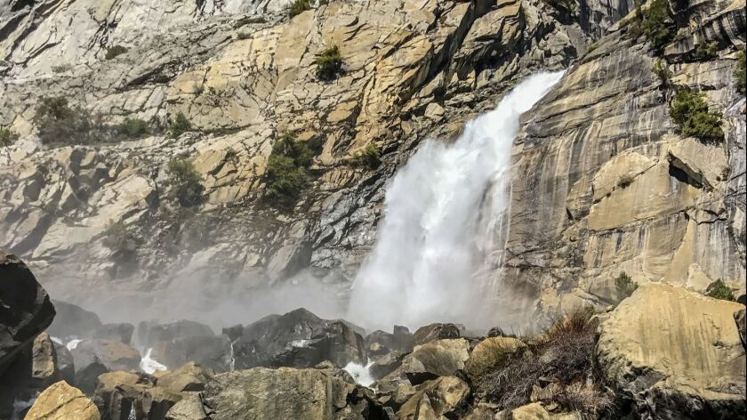 Yosemite Valley isn't the only place in the park where waterfalls plummet over towering granite clif