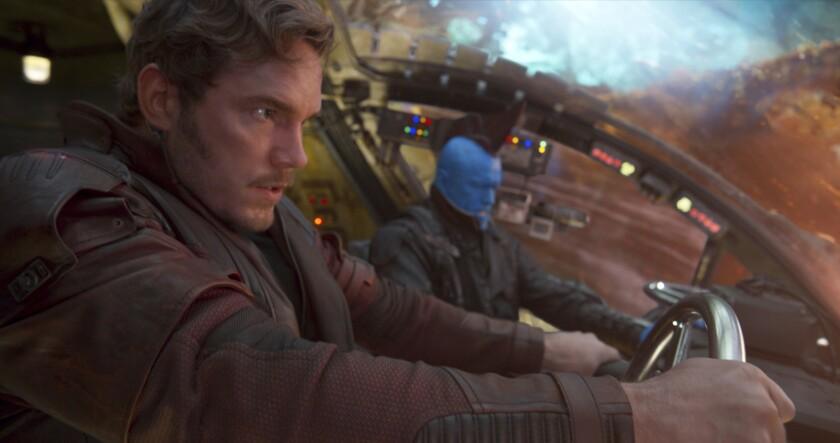 "Peter Quill (Chris Pratt) and Yondu (Michael Rooker) in ""Guardians of the Galaxy Vol. 2."""