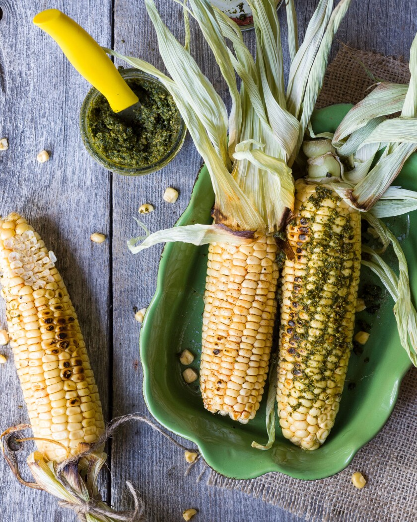 Three corn cobs