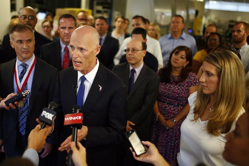 Florida Gov. Rick Scott, still costing his citizens money on Medicaid.