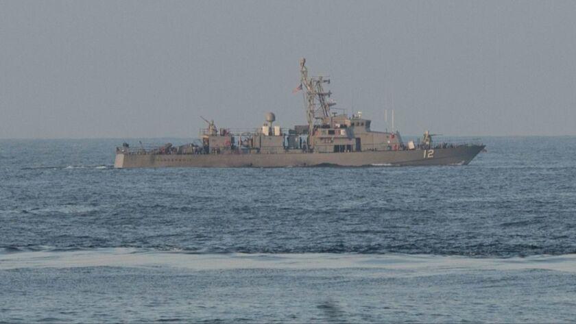 The coastal patrol craft Thunderbolt in the Persian Gulf on Jan. 7, 2015.