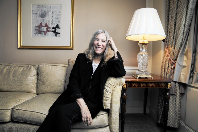 """Patti Smith, seen last November in New York, offers a slice of life (with skeleton exposed) in her new book """"M Train."""""""