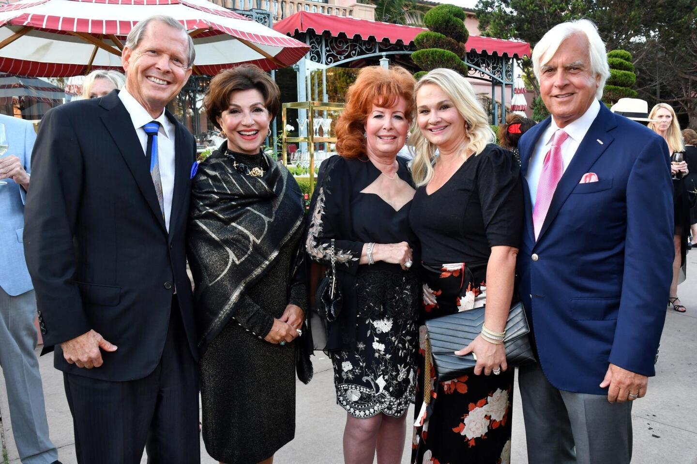 David and Annie Malcolm, Dianne Bashor, Jill and Bob Baffert