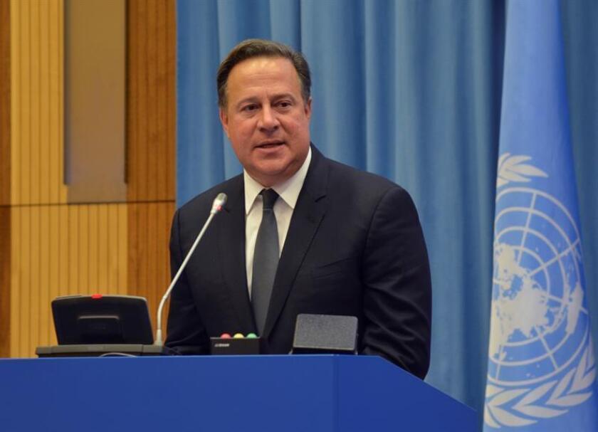 En la imagen, el presidente de Panamá, Juan Carlos Varela. EFE/Archivo