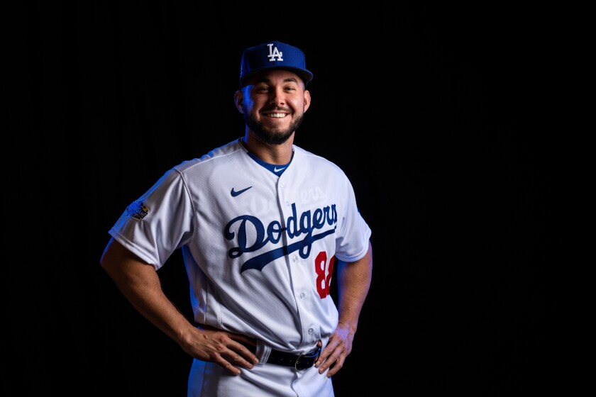 Dodgers outfield prospect Zach Reks