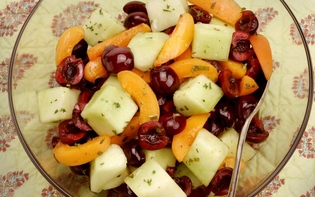 Cherry and apricot fruit salad