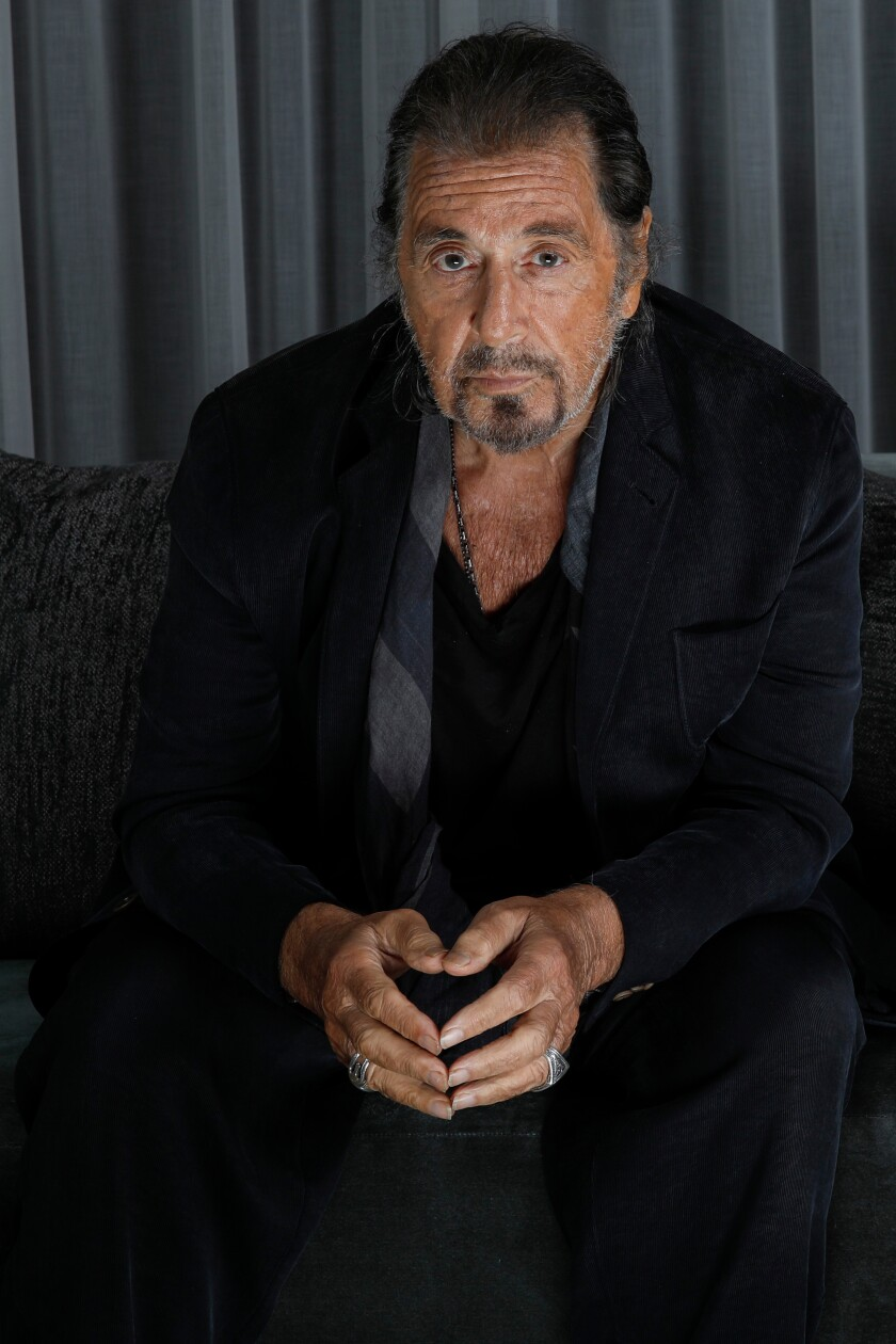 "Al Pacino is nominated in the supporting actor category for his role in ""The Irishman."""