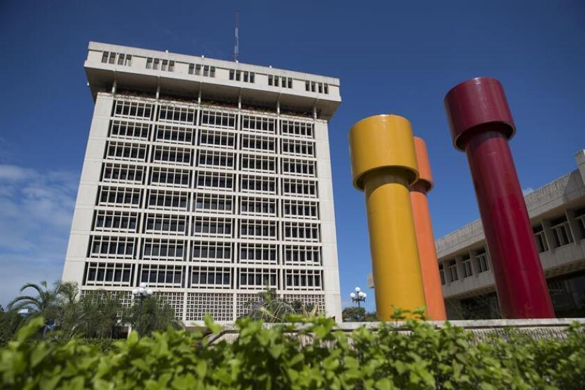 A view of the central bank building in Santo Domingo, Dominican Republic. The president of the central bank, Hector Valdez Albizu, said on Dec. 27, 2018, that the country's economy will grow by 7 percent in 2018. EFE-EPA/Orlando Barria