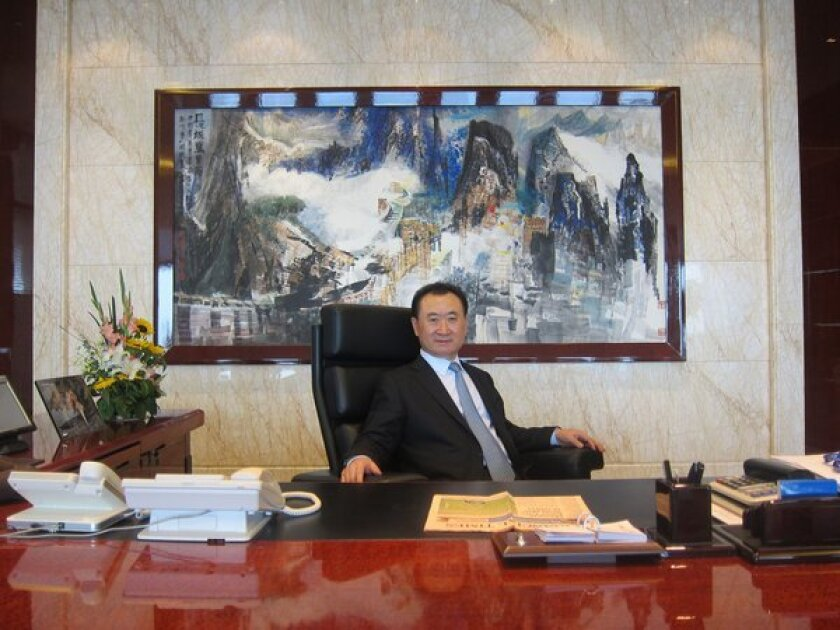 Wang Jianlin, chairman of Chinese conglomerate Wanda Group, which acquired AMC Entertainment last year for $2.6 billion, inside his Beijing office.