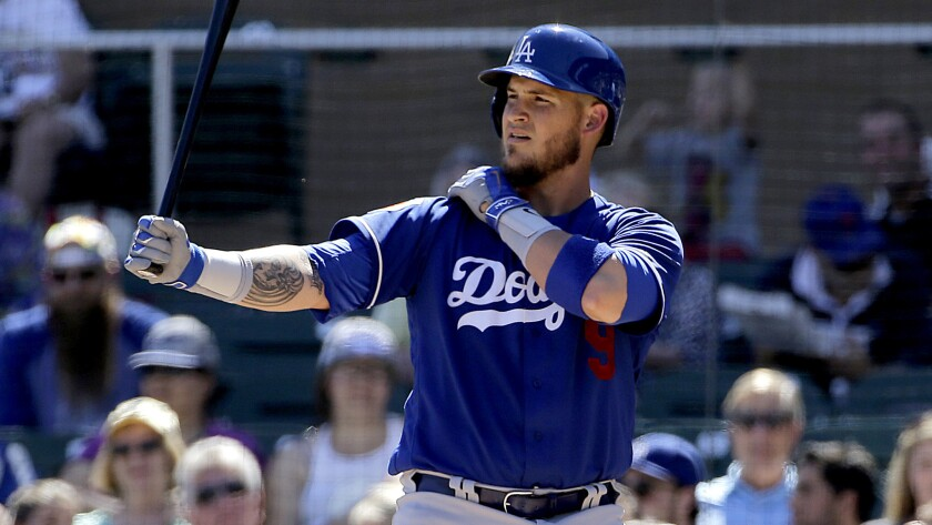Dodgers catcher Yasmani Grandal will be putting down the bat and taking it easy until this weekend.