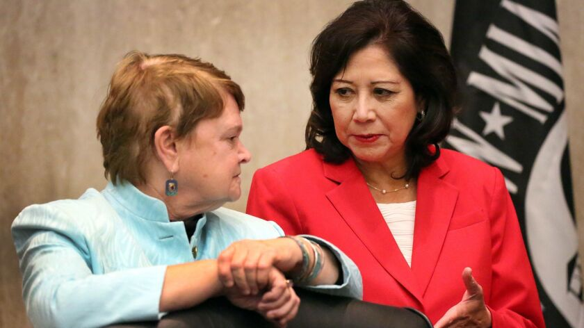 LOS ANGELES, CA - DECEMBER 08, 2015 - On her first day as Chairman, Los Angeles County Supervisor Hi