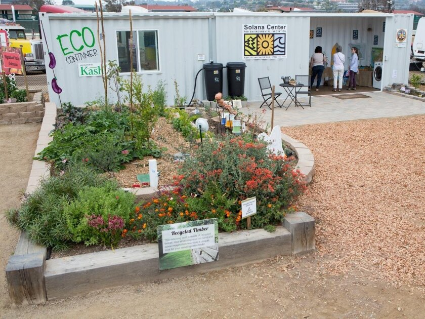 The Solana Center's Eco Container is on display on the Infield Farm at the San Diego County Fair.