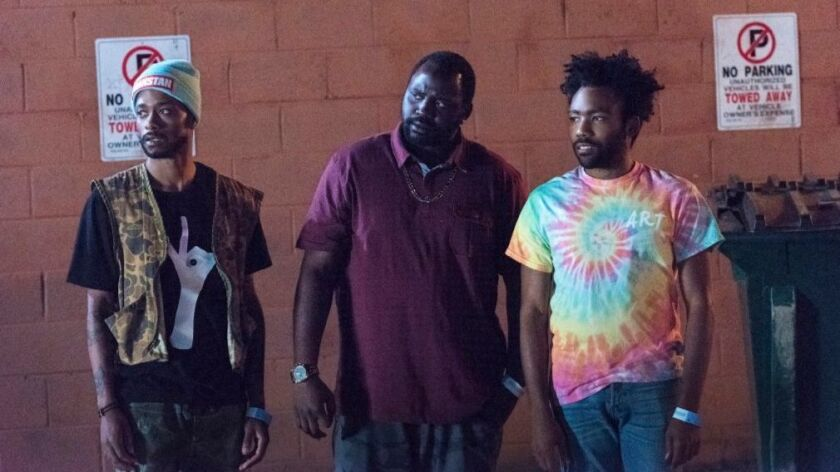 Keith Stanfield, Brian Tyree Henry and Donald Glover