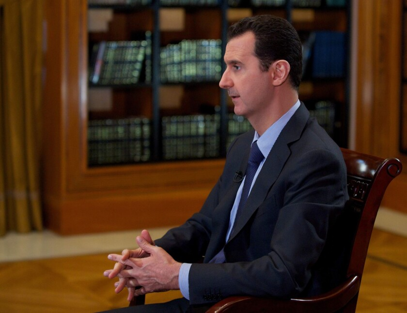 Syrian President Bashar Assad denied in an interview with Lebanon's Mayadeen television on Monday that he had agreed to meet in Geneva next month for peace talks aimed at ending Syria's 2 1/2-year-old civil war.
