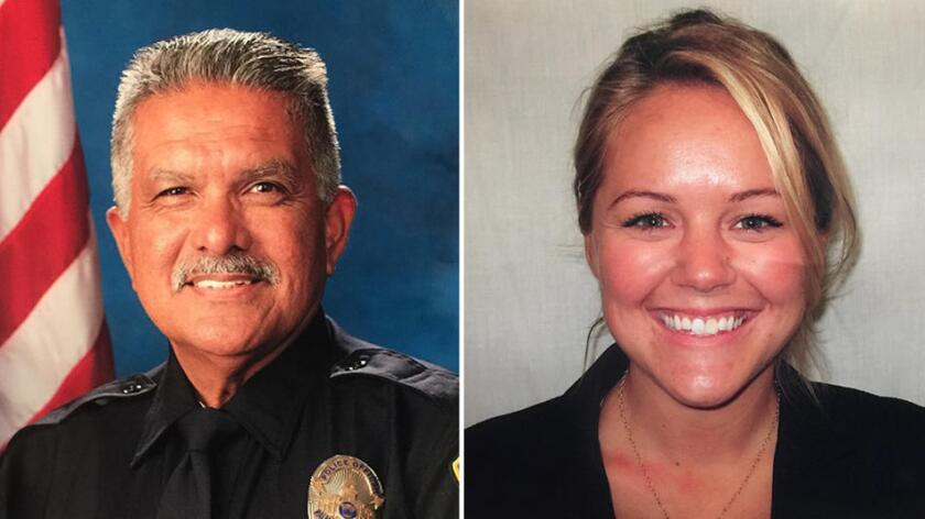 """Policía Jose """"Gil"""" Vega, de 63 años y policía Lesley Zerebny, de 27."""
