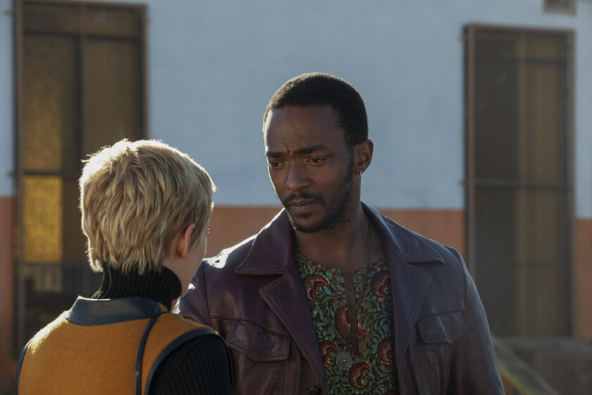 "Kristen Stewart and Anthony Mackie in ""Seberg"""