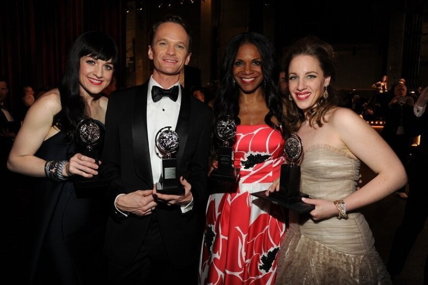 Lena Hall, Neil Patrick Harris, Audra McDonald and Jessie Mueller (left to right) were among the winning actors at last night's Tony Awards.