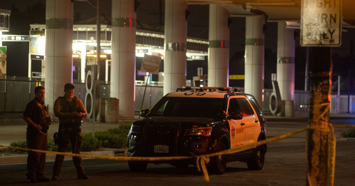 Two L.A. County sheriff's deputies expected to survive attack amid intense manhunt for shooter