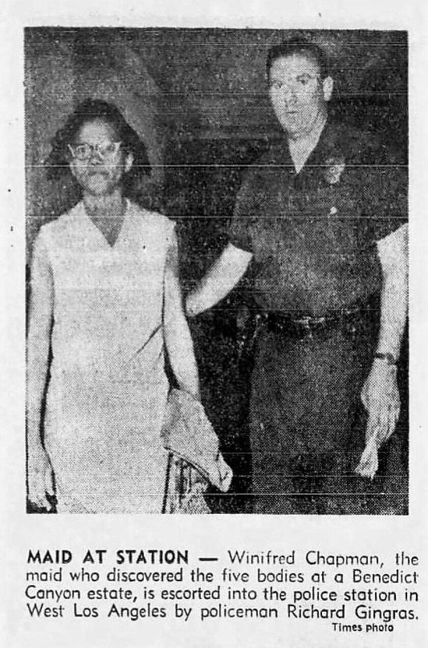 Archival photo from Aug. 10, 1969, of Winifred Chapman