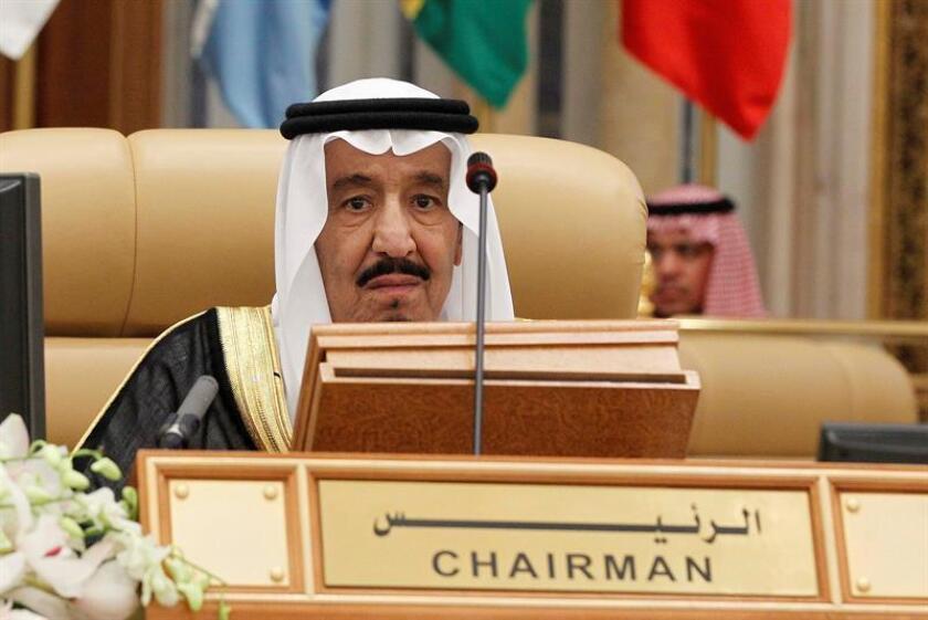 El rey saudí, Salman bin Abdelaziz, pacta con Trump crear zonas de seguridad en Siria y Yemen. EFE/Archivo