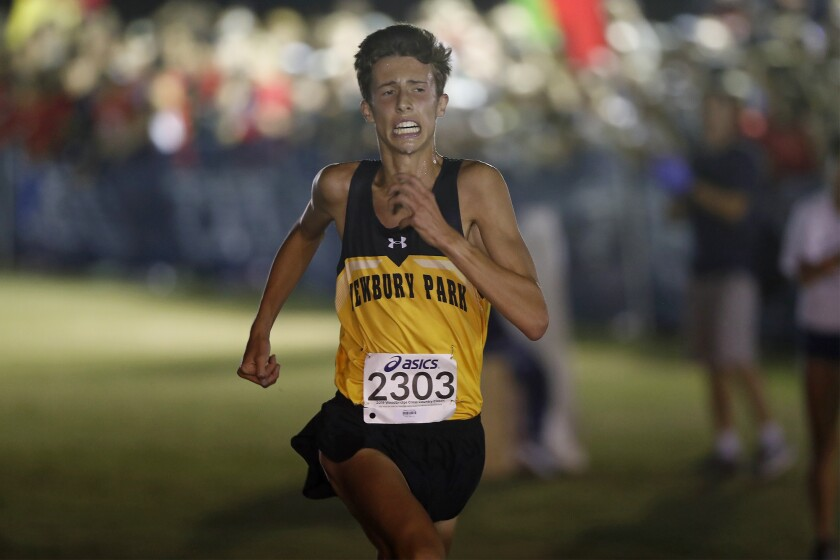 Nico Young of Newbury Park sets course record at Woodbridge Cross Country Classic