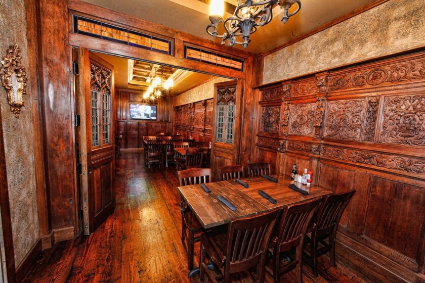 Shown is the wood interior of the Olde Blind Dog in Atlanta, named the best Irish pub of the year by the Irish Pubs Global Federation.