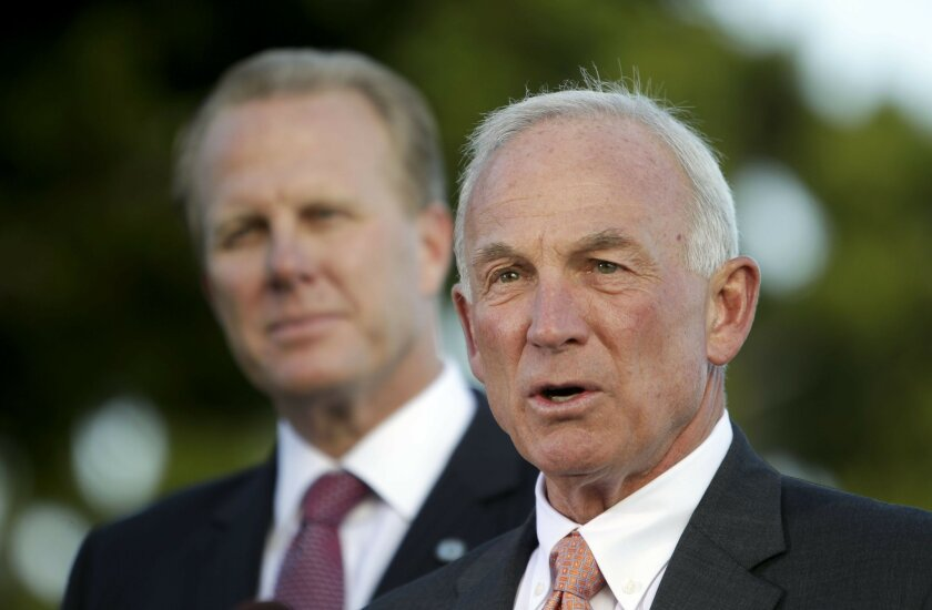 Former San Diego Mayor Jerry Sanders, now president of the San Diego Regional Chamber of Commerce, has been a longtime ally to Kevin Faulconer and is expected to be part of the mayor-elect's inner circle.