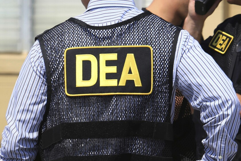 2016 file photo of Drug Enforcement Administration (DEA) agents in Florida. On Friday, Feb. 21, 2020, the FBI arrested U.S. federal narcotics agent Jose Irizarry and his wife, Nathalia Gomez Irizarry, at their residence in Puerto Rico, according to a law enforcement official familiar with the arrest.