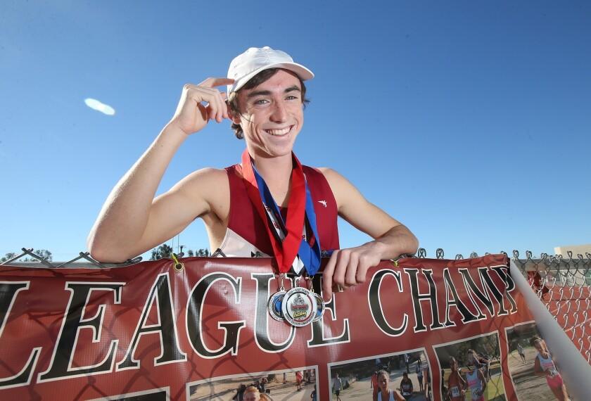 Laguna Beach senior cross-country runner Ryan Smithers. Laguna Beach won the Division IV state champ