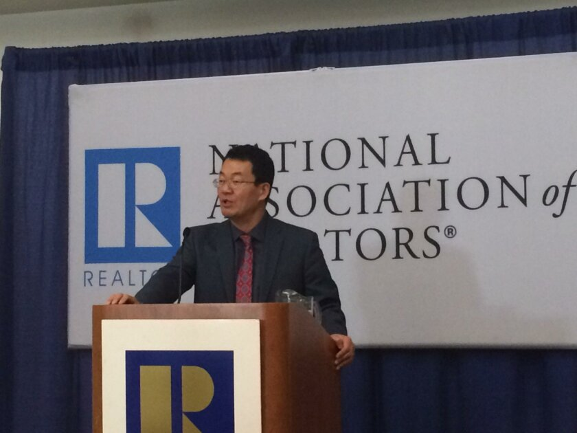 Lawrence Yun, chief economist for the National Association of Realtors, predicted at the organization's annual conference that 5.4 million homes will be sold in 2016, barely up from 5.3 million this year.