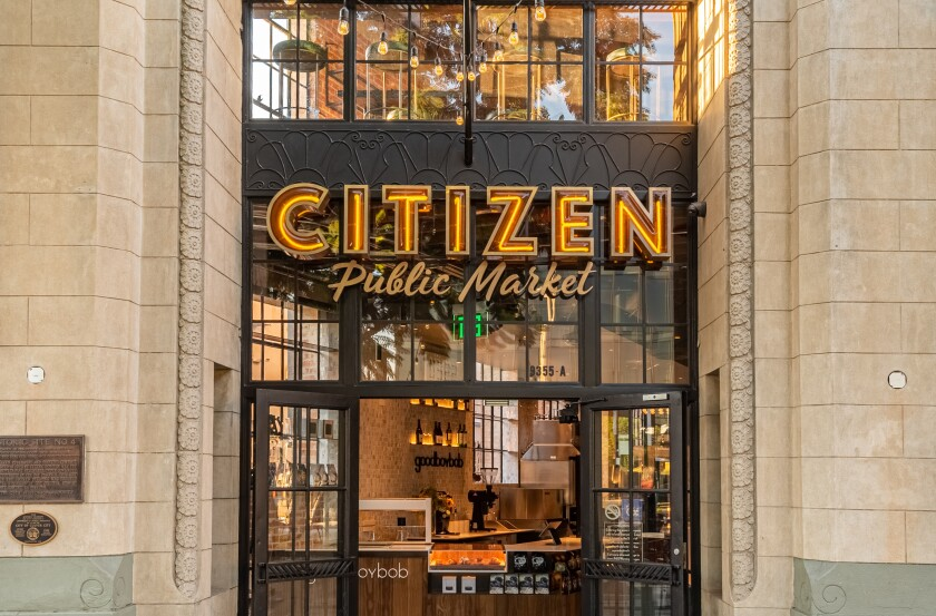 The entrance to Citizen Public Market in Culver City