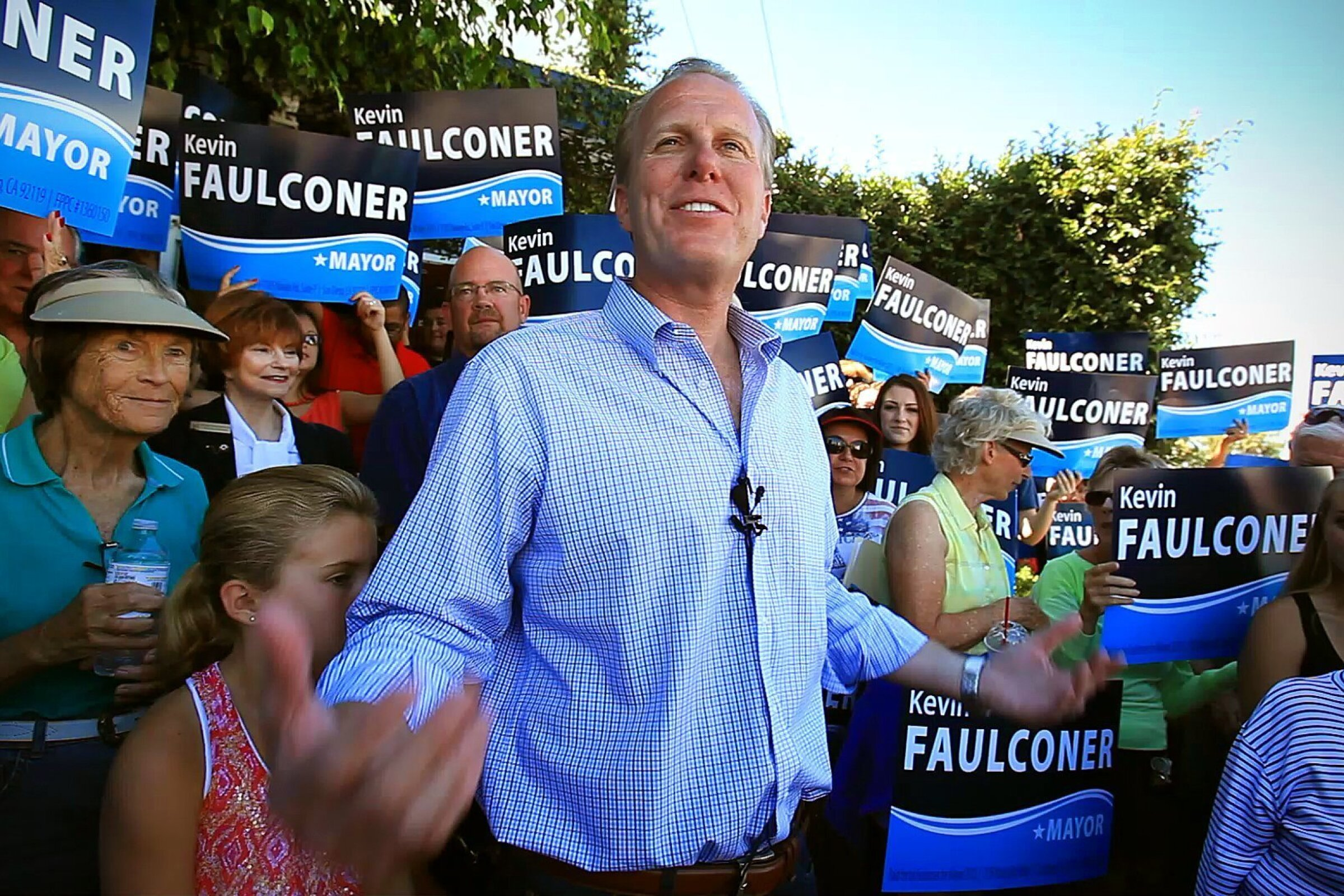 Kevin Faulconer, opening a campaign headquarters for his mayoral bid in September, 2013.