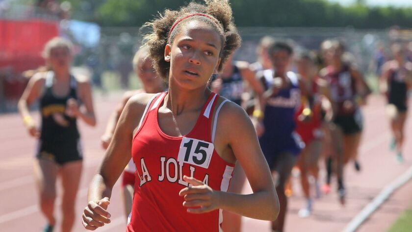 La Jolla's Sierra Roberson returns in the 800 meters.