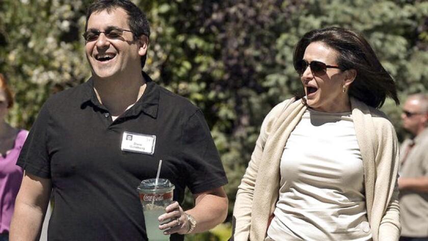 David Goldberg with wife Sheryl Sandberg in 2013.