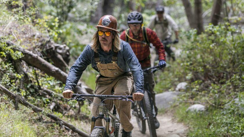 LOS ANGELES, CA - April 15, 2018: (LC) Matt Baffert, 37, carpenter and the trail boss for the Mt.