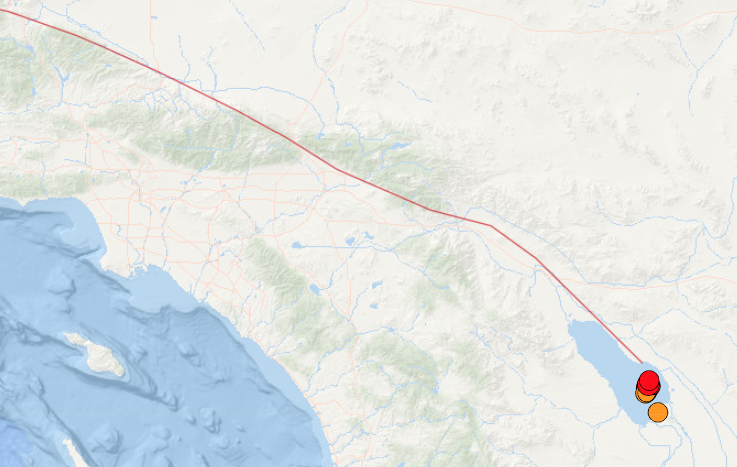 Swarm of earthquakes sparks worry about San Andreas fault