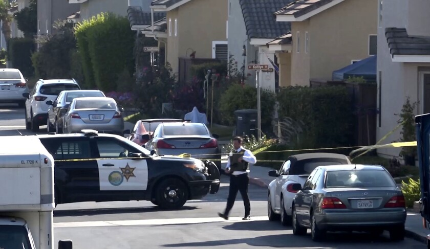 Two people were killed and two others were wounded in a shooting Thursday afternoon in Aliso Viejo.