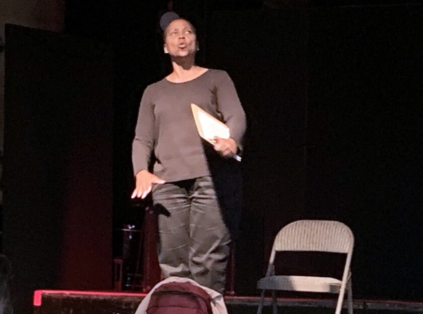 """Renee Westerbrook stars in """"Shelter"""" at the 2019 San Diego International Fringe Festival in Balboa Park."""