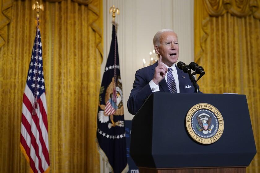 Joe Biden speaking from the White House.